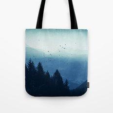 Blue Valmalenco - Alps at sunrise Tote Bag