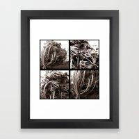 Four Flowers Framed Art Print