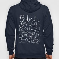 PSALM 34:18 (Black and White) Hoody