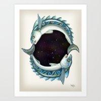 INKYFISH - Southern Hemi… Art Print