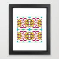abstract face pattern Framed Art Print