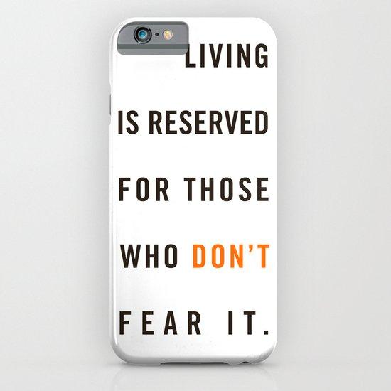 Live Unafraid iPhone & iPod Case