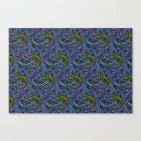 Lizzards Pattern. Canvas Print