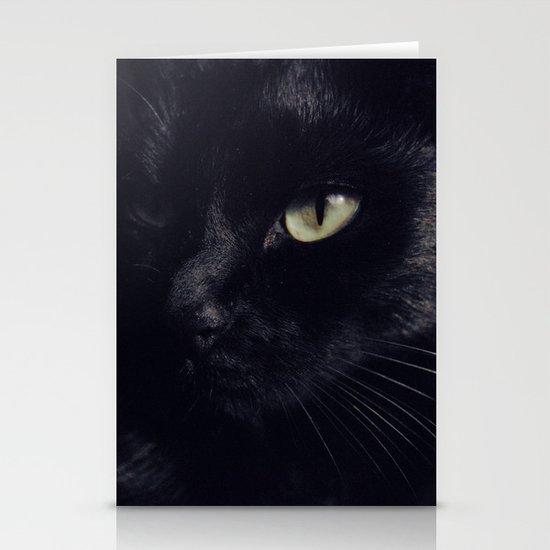 Black cat Stationery Card