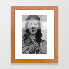 without seeing Framed Art Print