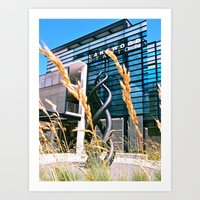 Art Print featuring Future Train Station by Vorona Photography