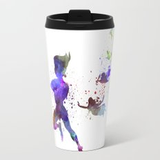 Peter Pan in watercolor Travel Mug