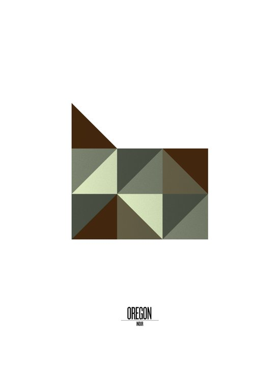 Geometric Oregon Art Print