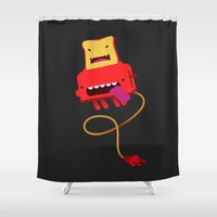 Red Toast Shower Curtain
