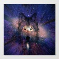 Wolf Energy Canvas Print