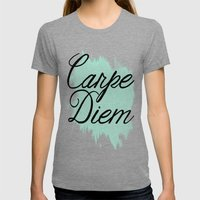 Carpe Diem Womens Fitted Tee Tri-Grey SMALL
