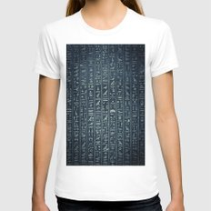 Egypt Womens Fitted Tee White SMALL