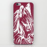 red cougar iPhone & iPod Skin