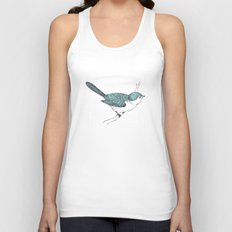 Blue Bird Unisex Tank Top