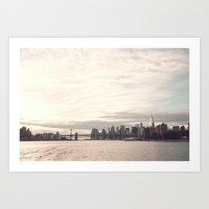 Manhattan Skyline And Br… Art Print