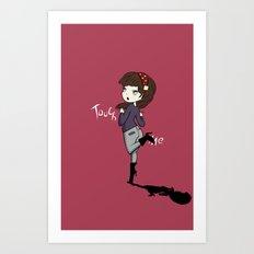 Touch Me ! Art Print
