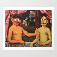 Bert Et Un De Ses Frère… Art Print