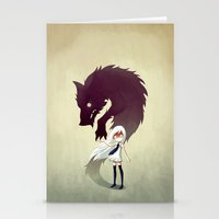 girl Stationery Cards featuring Werewolf by Freeminds
