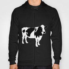 Cow on blue Hoody