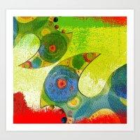 Tropical Shapes Art Print