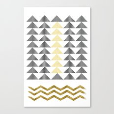 Waves & Mountains Canvas Print