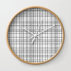 Weave Black and White Wall Clock