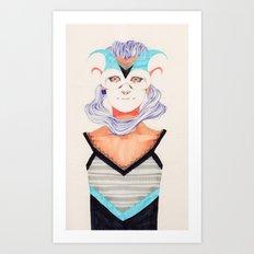 Hair Play 03 Art Print