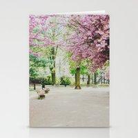 french cherry blossom Stationery Cards