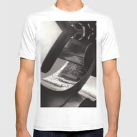 Droplets On Metal Mens Fitted Tee White SMALL
