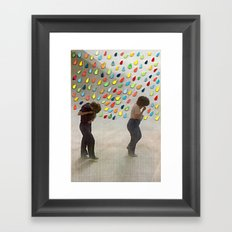 Please Be Happy Framed Art Print