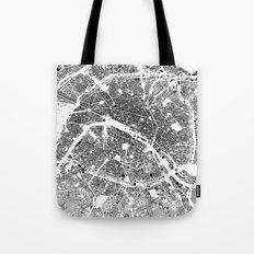 Paris Map Schwarzplan Only Buildings Tote Bag