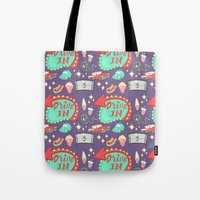Drive-In Pattern Tote Bag
