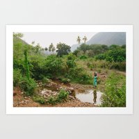 Collecting Water Art Print