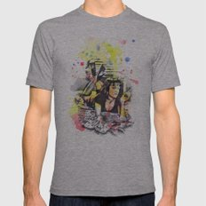 Uma Thurman From Pulp Fiction Mens Fitted Tee Athletic Grey SMALL