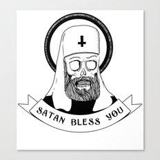 Satan bless you Canvas Print