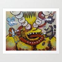 Bart Taking That Trip Art Print