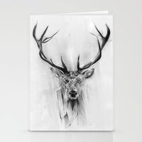 portrait Stationery Cards featuring Red Deer by Alexis Marcou