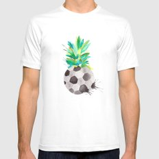 Soccerapple Mens Fitted Tee White SMALL