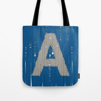 Winter clothes. Letter A. Tote Bag