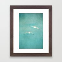 fly to paradise Framed Art Print