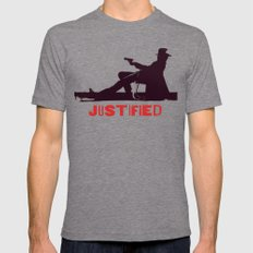 Justified ||| Mens Fitted Tee Tri-Grey SMALL