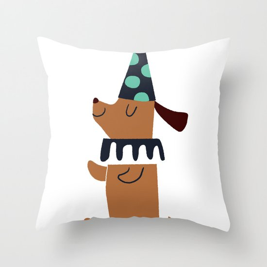 circus dog Throw Pillow