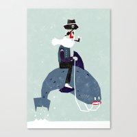A sea rider Canvas Print