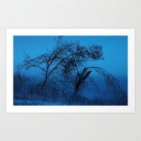 Weeping Pines Art Print
