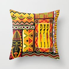 African Ornamental Patte… Throw Pillow