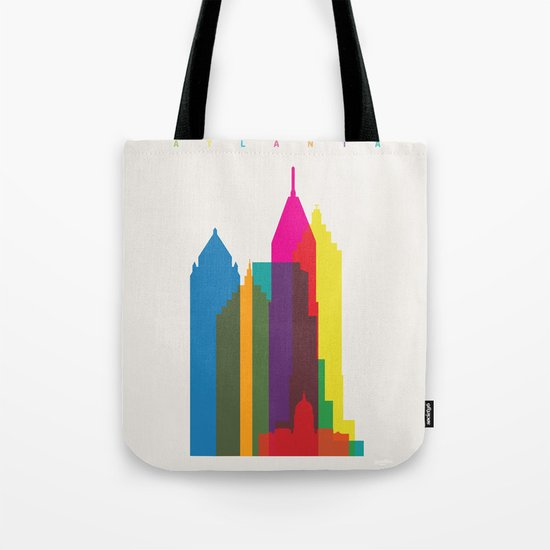 Shapes of Atlanta. Accurate to scale Tote Bag