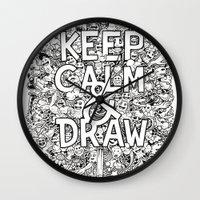 Keep Calm and Draw Wall Clock