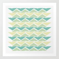 ocean triangles Art Print