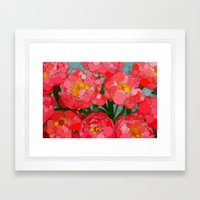 Pink Tulips On Parade! Framed Art Print