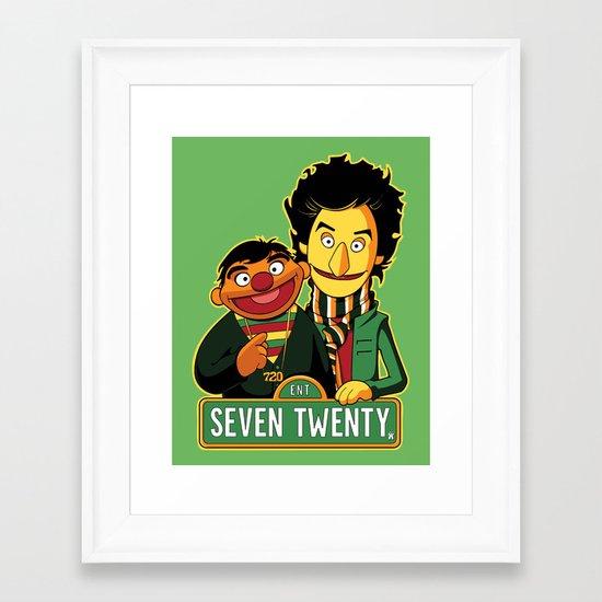 E is for Entertainment Framed Art Print